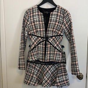 Heart Moon Star Tweed Skirt Suit Set